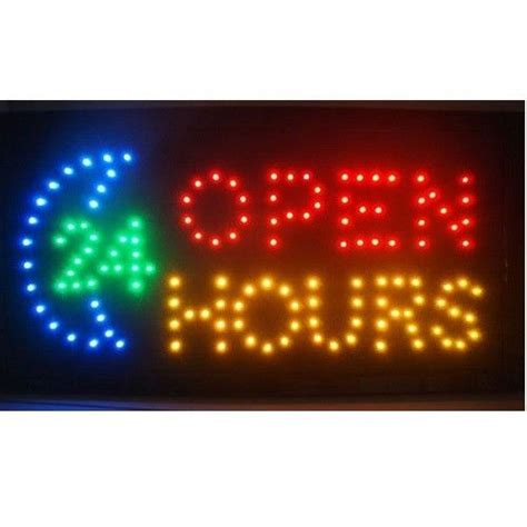 Lights Hours by Motion Led Business 24 Hour Hours Open Sign On