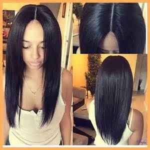 part hair for black middle part hairstyles for black women with big heads
