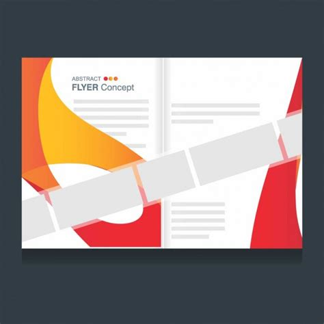 elegant brochure template of abstract shapes vector free