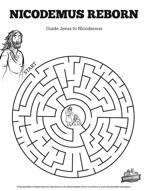free bible coloring pages nicodemus 3 nicodemus bible mazes your are going to