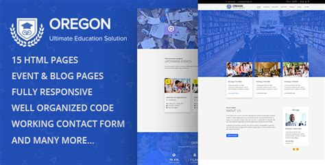 oregon education multipage html template nulled download