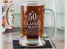 50th Birthday Classic Man 16Oz Beer Mug Stein Glass by eugenie2