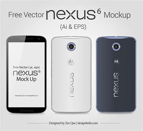 design google nexus 6 free vector google nexus 6 mockup in ai eps format