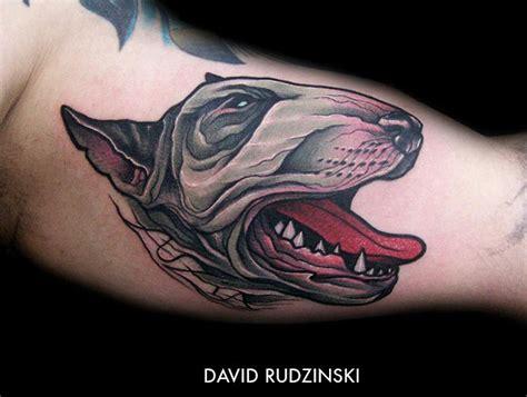 tatouage t 234 te de chien sur l avant bras inkage