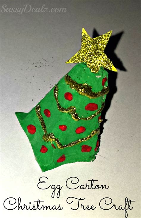 4h christmas tree from old egg carton recycled egg tree craft for trees crafts and trees