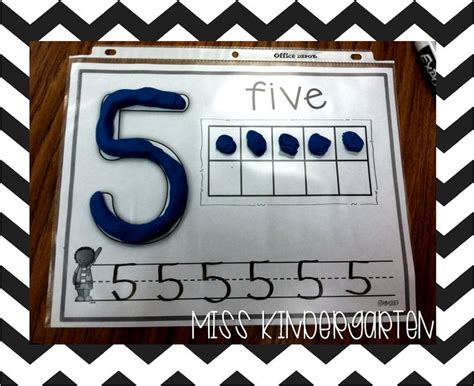 Play Doh Number Mats by