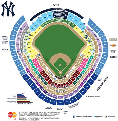 yankee stadium floor plan 2016 full season ticket license pricing new york yankees