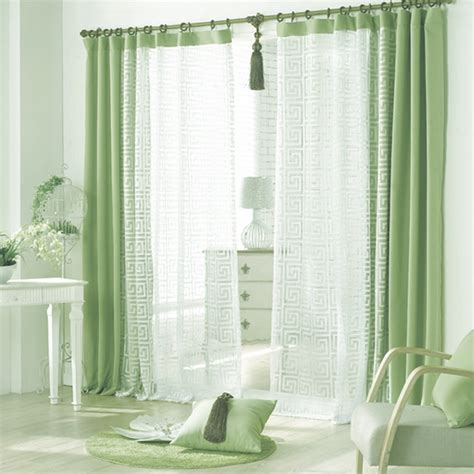 green curtains for bedroom aliexpress com buy sheer curtain green cloth and white voile window curtains for