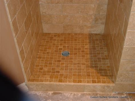 Travertine Tile Bathroom Shower Master Bathroom Travertine Tile Shower Tub Floor Traditional Bathroom By