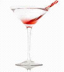 P I N K Peppermint Martini Drink Of The Week
