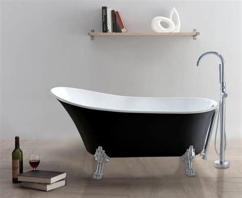 Badewannen Gebraucht by Freistehende Badewanne Classico Sw Schwarz Wei 223 Glasdeals