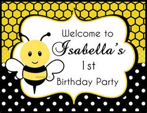 Bumble bee birthday or baby shower invitation printable sweet bee