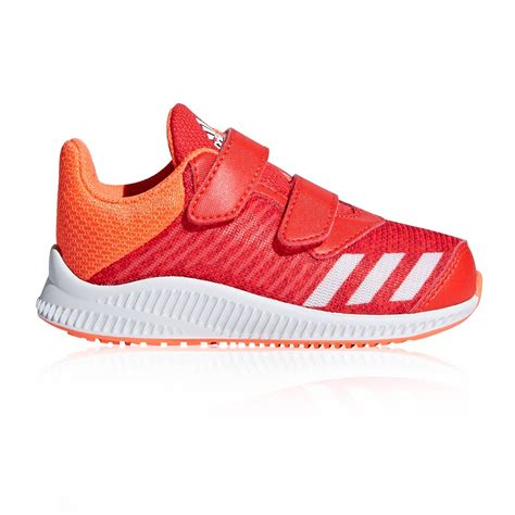 adidas fortarun velcro toddler running shoes white orange sportitude