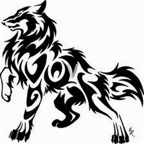 tribal awesome wolf face tattoo design for paper