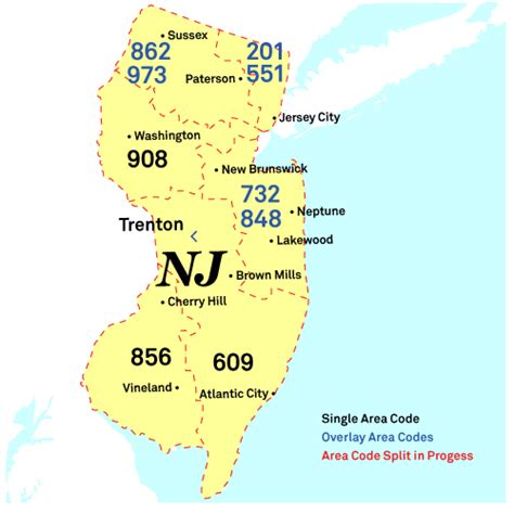 New Jersey Phone Number Lookup What City Or State Is The Area Code 732 Yahoo Answers
