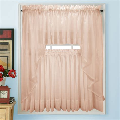 Pink Sheer Curtains Elegance Voile Pink Sheer Tier Panels