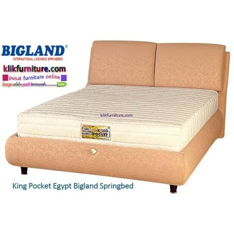 Bed Bigland King Pocket king pocket bigland springbed harga diskon