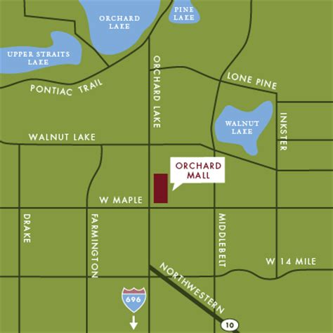 orchard mall map orchard mall west bloomfield