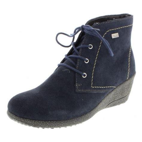 y0312 14 blue suede waterproof wedge ankle boot