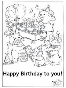 happy birthday coloring card happy birthday cards coloring pages olanessa buzz
