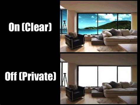 Exterior Patio Blinds Invisishade Switchable Privacy Film Smart Glass Window