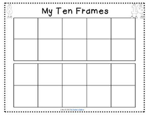 apples ice cream ten frames freebie and word walls