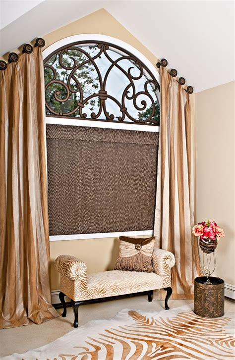 classical bedroom curtain curved window treatments pinterest valance arch and bedrooms 64 best medallion top drapery design images on pinterest