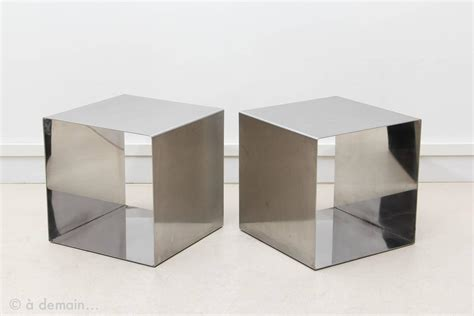 cube coffee table pair of cube coffee tables designed by pergay