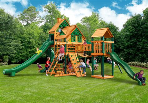 in house swing sets residential backyard equipment a ok playgrounds swing