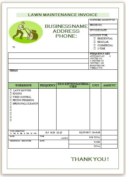 Landscaping Invoice Template 1 Landscaping Invoice Templates Invoice Template Invoice Landscape Templates Free