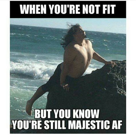 Know Youre Meme - when you re not fit but you know you re still majestic af