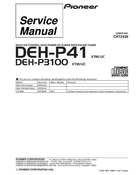 pioneer deh p390mp wiring diagram 33 wiring diagram