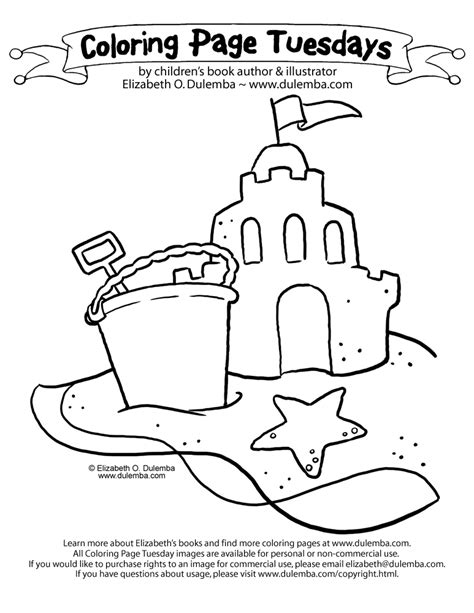 Coloring Page Tuesdays by Dulemba Coloring Page Tuesday Sandcastle Cliparts Co