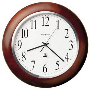 Wall Clocks Clockway 13 75in Howard Miller Atomic Wooden Wall Clock