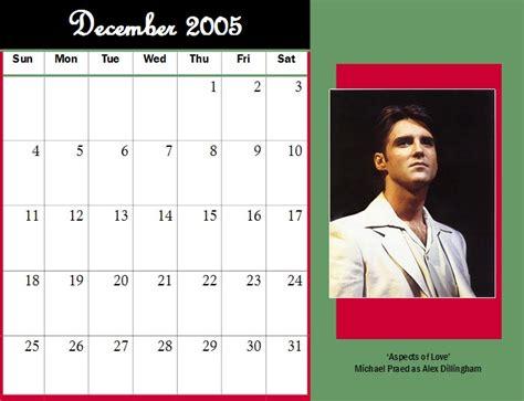December 2005 Calendar Michael Praed Chest Hair Moments 2005 Calendars