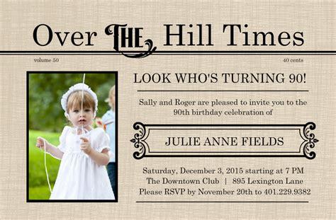 printable 90th birthday invitations free printable 90th birthday invitations dolanpedia invitations ideas