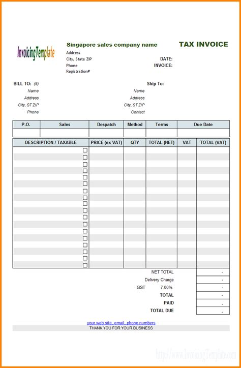bill format  service tax simple bill