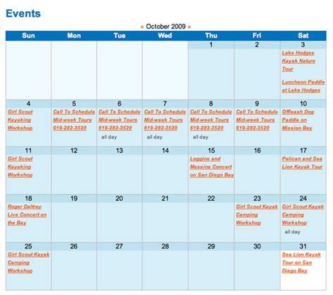 web design event calendar 10 web design features that work for non profit