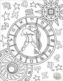 coloring pages zodiac signs aquarius zodiac sign coloring page free printable