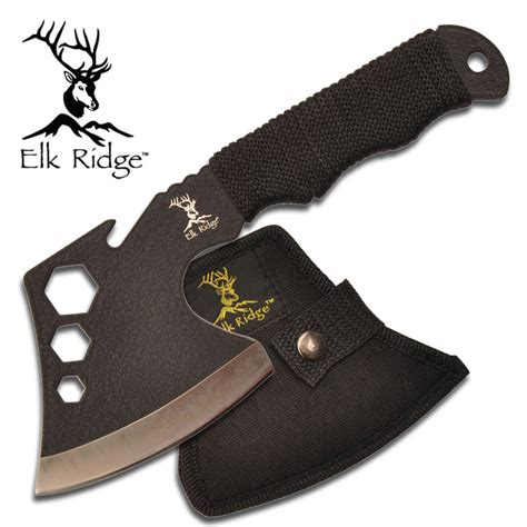 awesome hatchets 8 quot elk ridge cord wrapped tang cing axe hatchet w