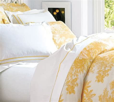 Bed Dust Ruffle Matine Toile Duvet Cover Amp Sham Marigold Yellow