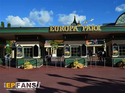 europa park eingang offizieller europa park fanclub haupteingang