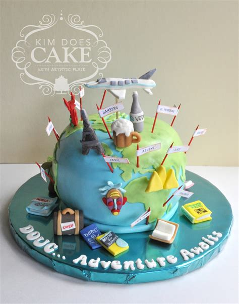 Cake Decorating Ideas At Home by World Travel Retirement Cake Cakecentral Com