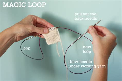 magic loop knitting needles magic loop technique how to knit in the using a