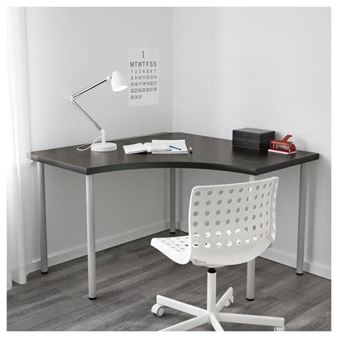 corner desk tops linnmon corner table top black brown 120 x 120 cm ikea