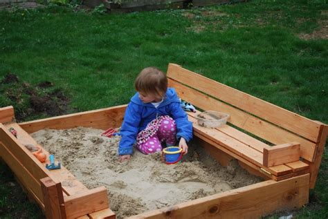 sandbox with benches ana white sandbox with benches diy projects