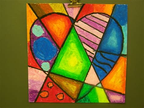 easy cubism paintings jim dine hearts lesson in color gradation blending