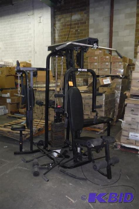 biodyne weight bench bio dyne total gym system auction 203 four wheelers