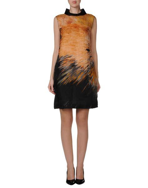 Fendi Dress fendi dress in multicolor ocher lyst