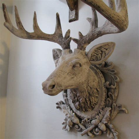 elk home decor faux buck elk head wall mount french from anitasperodesign on